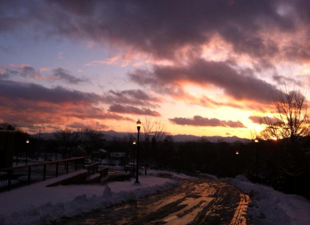 Ice Melt Sun Set
