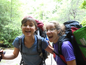 This is my friend Laura and I, super excited about life and the trail!