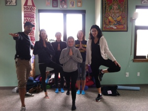 A beautiful group of dedicated yogis.