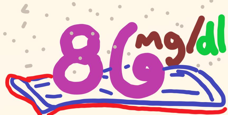 86 mg/dl